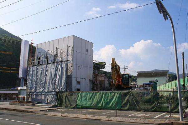 取り壊し中の元西日本シティ銀行対馬支店