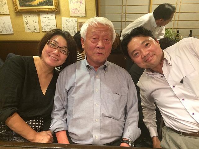 下田武夫さん(中央)